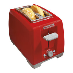 Hamilton Beach - Proctor Silex Cool Touch Red 2-slice Wide Slot Toaster - Proctor Silex 2-slice Toasters are popular not only for their expert toasting performance-they also look great in your kitchen.