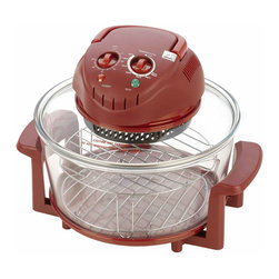 Fagor - Red 12 qt Halogen Tabletop Convection Oven - Dimensions: 15 x 15 x 10.2 inches
