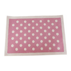 Babyface - Pink Dotty Rug - •Hand tufted from luxurious 100% wool