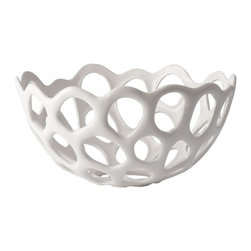 Lazy Susan - Lazy Susan Perforated Porcelain Bowl - Medium X-120427 - Made from porcelain