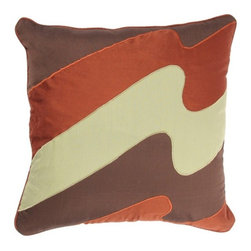 "Rizzy Home - T-2629 18"" Decorative Pillow in Multi (Set of 2) - Distinctive and elegant, these decorative accent pillows are versatile enough to be used in any room of the home. Rich hues and textural accents will allow you to add your signature touch and create your own style. Features: -Color: Multi. -Material: Poly staple. -100% Siliconized polyester fiber filler. -Zippered pillow cover with poly fill insert. -Dry clean only."