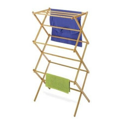 Whitmor - Bamboo Folding Drying Rack - Bamboo Folding Drying Rack  This item cannot be shipped to APO/FPO addresses. Please accept our apologies.