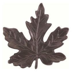 Atlas Homewares - Atlas Homewares 151-O Leaf 2-Inch Maple Leaf Door Knob, Aged Bronze - Atlas Homewares 151-O Leaf 2-Inch Maple Leaf Door Knob, Aged Bronze