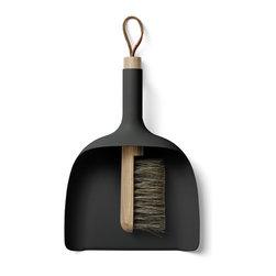 MENU - Sweeper and Dustpan, Black - Sweeper and Dustpan is so simple in its core idea, that it becomes almost brilliant – it's the kind of design you wish you'd thought of yourself, and the obvious value of the design makes people wonder why no one has thought of this before.