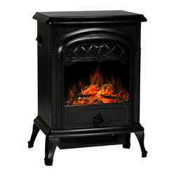 None - Lofty Galway Electric Stove Heater Free Standing - This Galway free standing electric stove combines colonial craftsmanship with modern convenience. Realistic log flames emit a warm glow and the adjustable settings for brightness and temperature mean the heater can be adapted for any living space.