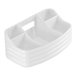 Gedy - Transparent Make-up Tray, White - A sensible complimentary piece for a luxurious or contemporary master bathroom, this free stand make-up tray is the perfect option.