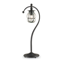 Currey & Co - Currey & Co 6534 Telegram Blacksmith Desk Lamp - 1 Bulb, Bulb Type: 7 Watt Candelabra; Weight: 4lbs