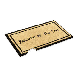 William F. Kempf & Son Inc. - Natural Funny Coco Doormat - Natural coco mat, with a humorous touch to greet any dog lover at your door. Made of thick coco fiber, helps in scraping the dust of your shoes and also leaves those muddy footprints at the door. Vinyl backing.