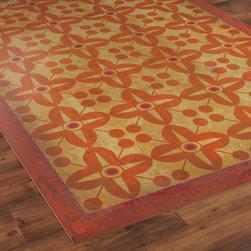 Flower Power Indoor Outdoor Floorcloth -