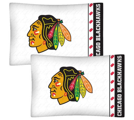 Store51 LLC - NHL Chicago Blackhawks Hockey Set of 2 Logo Pillowcases - Features: