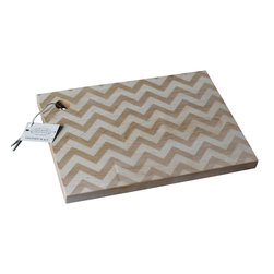 Richwood Creations - Solid Wood, Chevron Pattern Design Cutting Board, Maple, Large - This laser engraved chevron pattern is a unique style of cutting board. Add some flare to your kitchen with a piece of handmade fashion! Available in cherry or maple wood, and also various sizes.