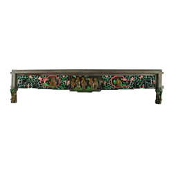 EuroLux Home - Consigned Antique Chinese Wall Hanging Colorful Carved - Product Details
