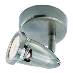Trans Globe Lighting - Trans Globe Lighting W-460 BN Track Light In Brushed Nickel - Part Number: W-460 BN