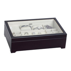 Mele Jewelry - Mele and Co. Sheraton Musical Jewelry Box in Java - Mele Jewelry - Jewelry Boxes - 00338F13