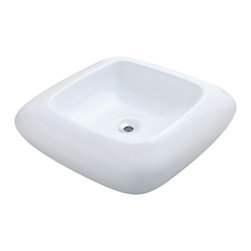 MR Direct - MR Direct v100 Porcelain Vessel Sink, White, Chrome, No Drain - Our extensive line of porcelain sinks will complement any decor from the traditional to the unique. Our porcelain sinks are true vitreous china with a triple laid glaze to create the strongest sink you will find. Our porcelain sinks are extremely low maintenance. Our porcelain sinks are covered by a limited lifetime warranty.