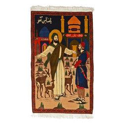 eSaleRugs - 3' 5 x 5' 7 Pictorial Bakhtiar Persian Rug - SKU: 22115563 - Hand Knotted Pictorial Bakhtiar rug. Made of Kork Wool. Brand New.