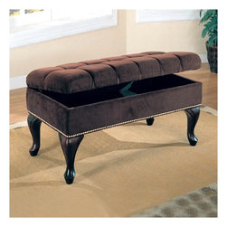 Wildon Home � - Westfall Storage Bench, Dark Brown - Features: -Traditional style.-Color: Dark Brown.-Distressed: No.-Collection: Storage.Dimensions: -Overall Product Weight: 41.14 lbs.