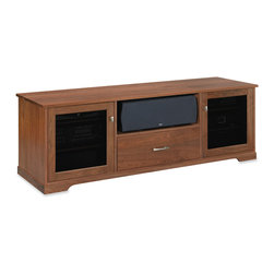 Standout Designs - Standout Designs Horizon EX Wood TV Stand, 1-Drawer, Natural Walnut, Tinted Door - The Horizon EX wood TV stand is skillfully made and beautifully finished by Pennsylvania craftsmen using premium American lumber - Walnut - extensively throughout. It hosts most flat screen TVs to 80 inches diagonal on its top. No assembly is required.