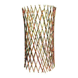 "Master Garden Products - Willow Cone Trellis, 48""H - Surround your plants and shrubs with our expandable willow twig cone trellis or fill it with dry leaves that will provide a beautiful and natural protection from the snow, ice, and destructive animals. These cones provide an inexpensive and practical way to insulate your garden. Folds compactly for easy storage. Cone shaped willow trellis is a perfect lawn ornament as well as a support for climbing plants."