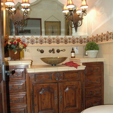 Traditional Powder Room by The French Tradition