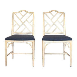 Chinese Style Chippendale Chairs - A Pair - $1,800 Est. Retail - $1,200 on Chair -