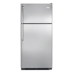 Frigidaire - FRT18G2PS 18.2 cu. ft. Top Freezer Refrigerator with SpillClear Door  Adjustable - The FRT18G2PS 182 cu ft refrigerator withsSpillclear door comes in a stainless steel finish It is packed with features to accommodate your everyday needs It is built and engineered in the USA with store-more gallon door shelf full width freezer shelf...