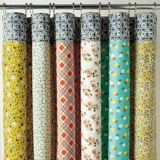 eclectic shower curtains by Garnet Hill
