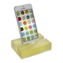 Fossil Faux Studios / groove - Groove iPhone/Smartphone Stand, Champagne, Iphone6/6s - The latest 'must have', these groove iPhone stands come in an array of yummy colors for you to choose from and you can mix or match styles if you already have a groove iPad/tablet stand. Whether alone or paired with the groove iPad/tablet stand, its a stunning statement of modern minimalism aesthetics. Geeks and non-geeks alike love the translucent beauty and simplicity of the groove iPhone stand and it makes a great, affordable gift.