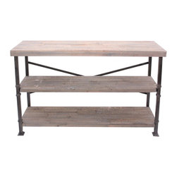 Crestview - Crestview CVFZR887 Midtown Wood and Metal Console - Midtown Wood and Metal Console Midtown Wood and Metal Console 48*15*32 Accent Furniture   48*15*32