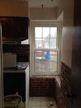 Galley kitchen w corner window - Houzz - Vent Hood For Corner Placement