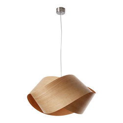 Nut Suspension Light by LZF | YLighting - This elegant lamp combines a contemporary look with warm wood veneer that glows overhead.