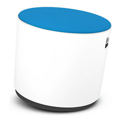 Turnstone - Turnstone Buoy, Arctic White/Blue Jay Seat - The Turnstone Buoy isn't just a stool - it's a height-adjustable, rocking, posture-sensitive ergonomic stool. That's a mouthful. On its rocker base, the Buoy moves just like its nautical namesake. Height adjustable and comfortable.