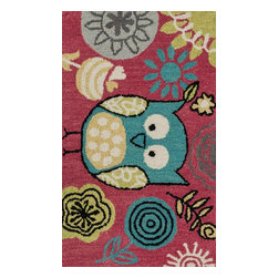 "Loloi Rugs - Loloi Rugs Skylar Collection - Berry / Teal, 2'-3"" x 3'-9"" - Make a big statement in small spaces with the Skylar Collection. Hooked in India of 100% wool, the designs bring colorful, bold attitude perfect for entry ways, bathrooms, and kid's rooms.�"
