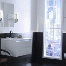 Contemporary Powder Room by Kohler