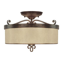Capital Lighting 4161RT-498 3 Light Semi-Flush Reserve Collection -