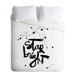 DENY Designs - Kal Barteski Star Bright Duvet Cover - Turn your basic, boring down comforter into the super stylish focal point of your bedroom. Our Luxe Duvet is made from a heavy-weight luxurious woven polyester with a 50% cotton/50% polyester cream bottom. It also includes a hidden zipper with interior corner ties to secure your comforter. it's comfy, fade-resistant, and custom printed for each and every customer.