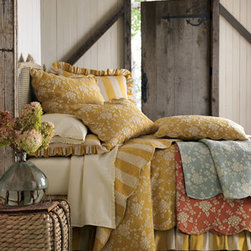 Pine Cone Hill - Pine Cone Hill King Dust Skirt - Layer on the comfort with vermicelli-stitched quilts finished with scalloped edges and offered in your choice of colors. Select color when ordering; limited quantities available in Sage and Terra Cotta; twin sizes and dust skirts not available in Sage.....