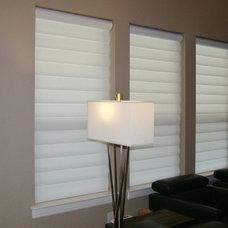 Modern Roman Blinds by Avenue Window Fashions