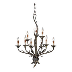 Vaxcel - Vaxcel H0073 Monterey Autumn Patina 9 Light Chandelier - Vaxcel H0073 Monterey Autumn Patina 9 Light Chandelier