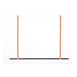 Ferm Living - Clothes Rack, Black - Need something nice to hang your favorite clothes on? This clothes rack will make both your room and your clothes look pretty. It is made of iron with powder coating and comes with 2 harness leather belts. The height is adjustable.