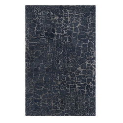 Surya - Surya Contemporary Banshee Sapphire Blue-Night Sky 8'x11' Rectangle Area Rug - The Banshee area rug Collection offers an affordable assortment of Contemporary stylings. Banshee features a blend of natural Brown Sugar-Parchment color. Hand Tufted of 100% New Zealand Wool the Banshee Collection is an intriguing compliment to any decor.