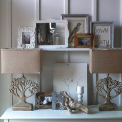 Tree Lamps with Linen Shades