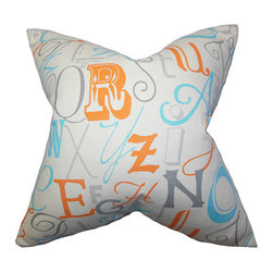 The Pillow Collection - Scyler Orange 18 x 18 Patterned Throw Pillow - - Pillows have hidden zippers for easy removal and cleaning  - Reversible pillow with same fabric on both sides  - Comes standard with a 5/95 feather blend pillow insert  - All four sides have a clean knife-edge finish  - Pillow insert is 19 x 19 to ensure a tight and generous fit  - Cover and insert made in the USA  - Spot clean and Dry cleaning recommended  - Fill Material: 5/95 down feather blend The Pillow Collection - P18-PP-ALPHABET-MANDARIN-C100