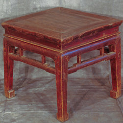 Chinese Square Small Stool / Table - Chinese Square Small Stool / Table