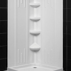 Dreamline - Dreamline QWALL-2 Shower Backwalls Kit - DreamLine universal shower wall panels are both a functional and beautiful addition to any bathroom. These versatile shower wall panels are made of advanced materials and engineered with a trim-to-size fit that works with most DreamLine shower enclosures. Ceramic tile walls for shower enclosures may look good, but are very difficult and expensive to install and even tougher to take care of. DreamLine shower wall panels install in hours and are easy to maintain and enjoy for many years to come.