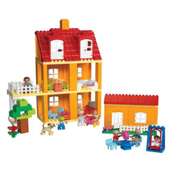 Lego Education Duplo Playhouse Set - For parents who would like their kids to build their own dollhouse, check out the Lego Education Duplo Playhouse set. With 125 pieces, kids can get creative and change up the house. It will help build fine motor skills too!