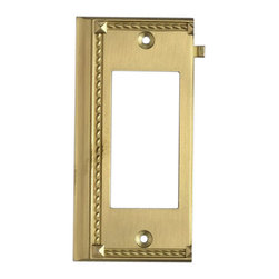 "Elk Lighting - Elk Lighting 2508BR Brass End Switch Plate - Brass End Switch Plate belongs to Clickplates Collection by Elk Lighting Decorative Outlet Covers Customizable To Your Receptacle Configuration. ""We'Ve Got You Covered"" With The Most Popular Models And Finishes. Quality Cast Metal Construction Will Add A Finishing Touch To Your decor. Clickplates Will Look Great In Every Room In Your Home. Clickplate (1)"