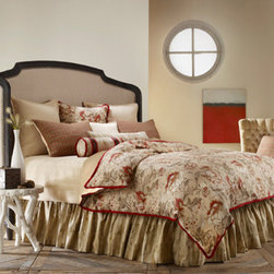 Mystic Home - Great Falls Timber Super King Complete Bed Set - - The Great Falls Complete integrates a Duvet cover, a bed skirt, a coverlet, an 18-in Pillow A, an 18-in Pillow B, a large boudoir, and a sheet set with Shams as follows: Super King /  King 3 (2 A, 1 B) Euro Shams + 2 King Shams, All Shams are sold flat   - Frame Material: Linen, Cotton, Viscose and Poly   - Cleaning/Care: Dry Clean Only   - Pillow Not Included   - Made in USA Mystic Home - ZREFXS-3