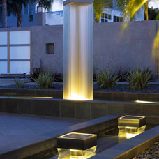 Contemporary Outdoor Fountains by Water Studio