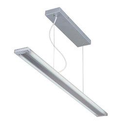 Lite Source - Fluorescent Ceiling Lamp, Silv/Frost, Fluorescent T5/6400K Tube 28Wx2 - Fluor. Ceiling Lamp, Silv/Frost, Fluor. T5/6400K Tube 28Wx2